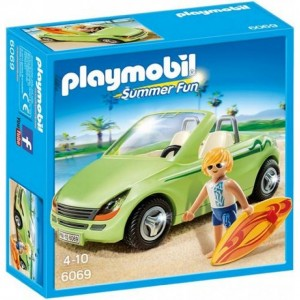 Playmobil Summer Fun 6069 - Cabrio met surfer