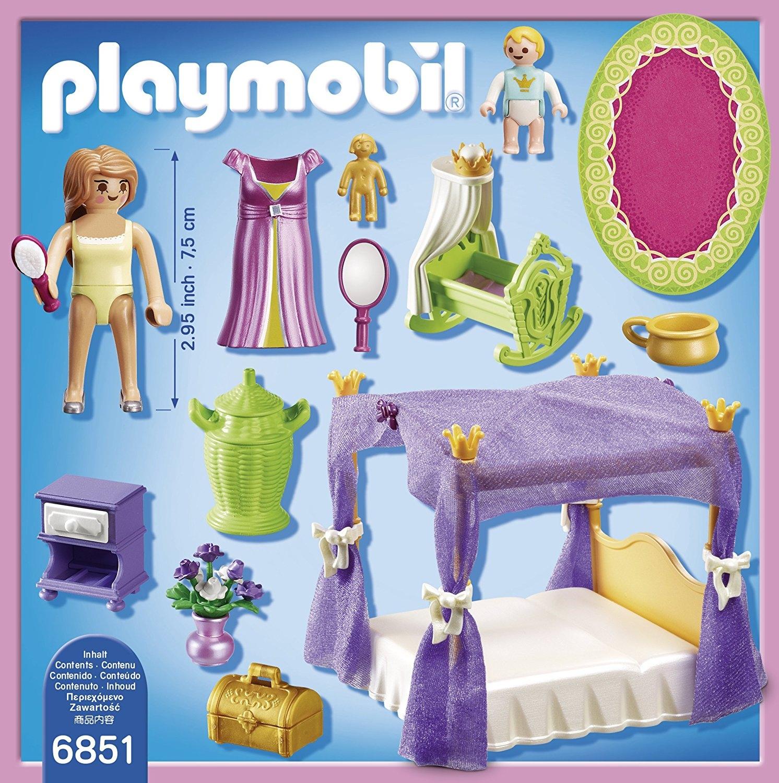 Playmobil Princess 6851 - Koninklijke slaapkamer met hemelbed - chipo