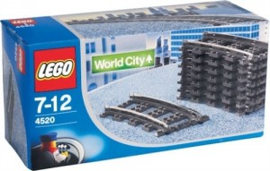 Lego City  4520 - Gebogen Rails